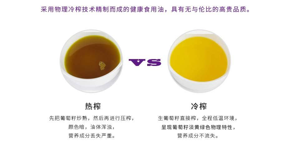葡萄籽油对比